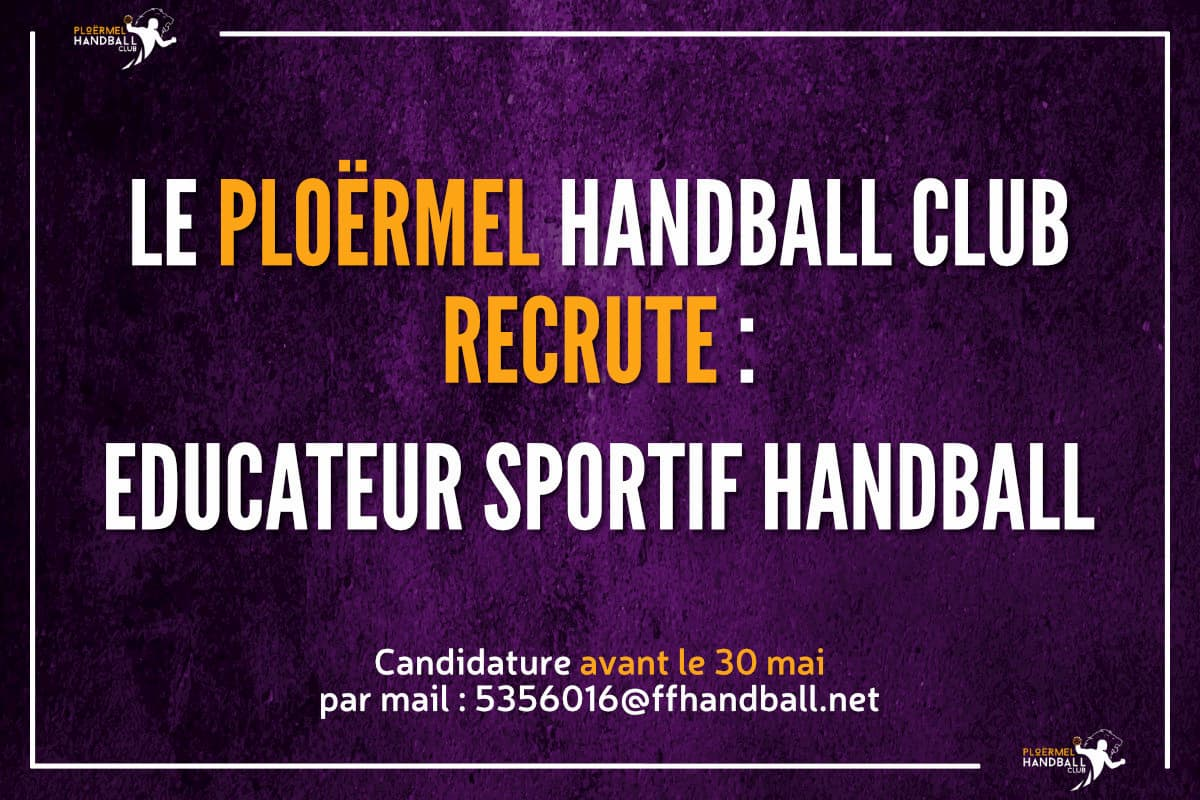 Le PHC recherche un Éducateur Sportif Handball 36
