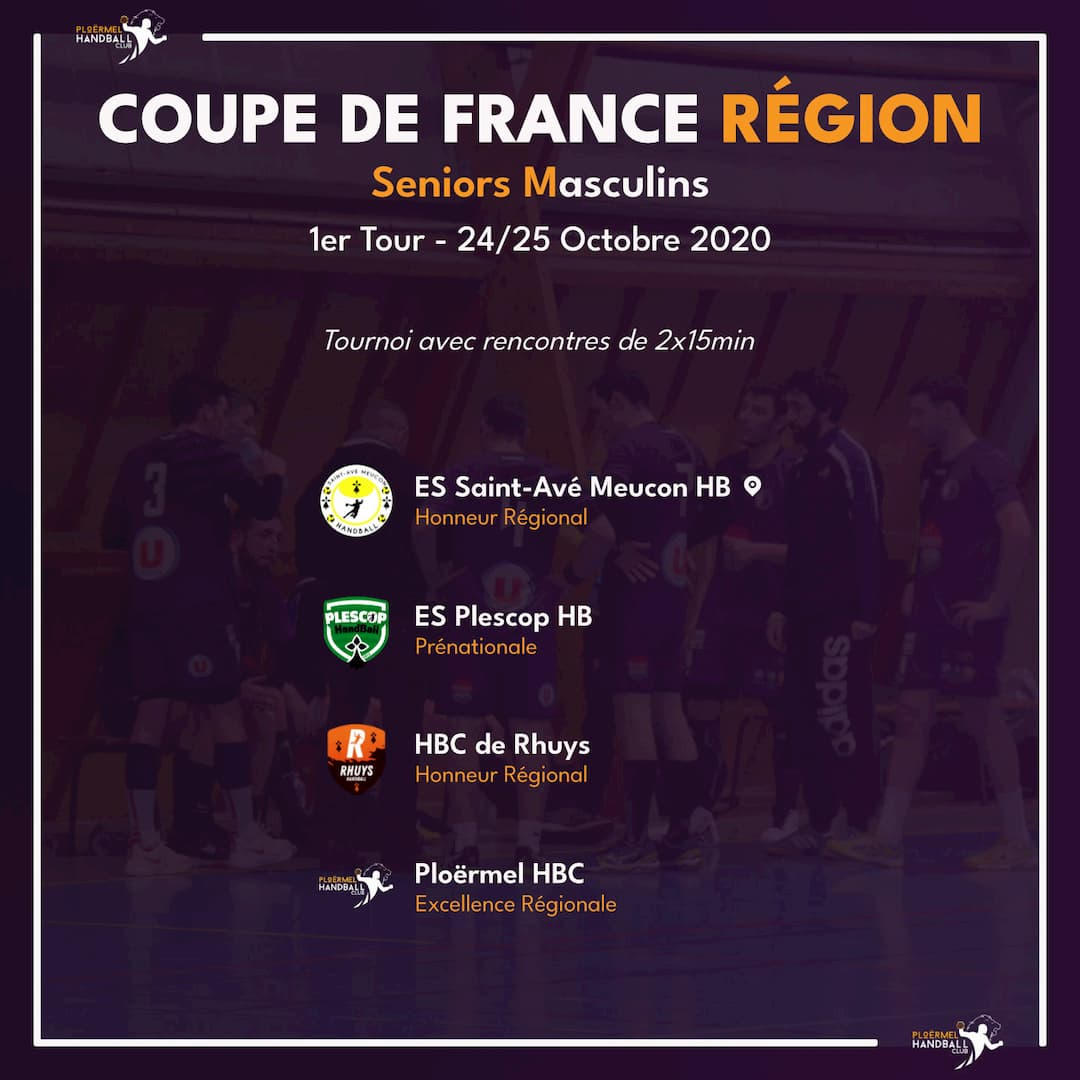1er Tour Coupe de France Région le 24 octobre 1