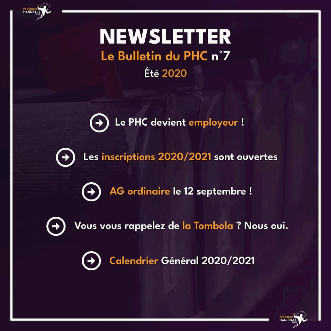 Newsletter - Bulletin du PHC n°7 (Été 2020) 1
