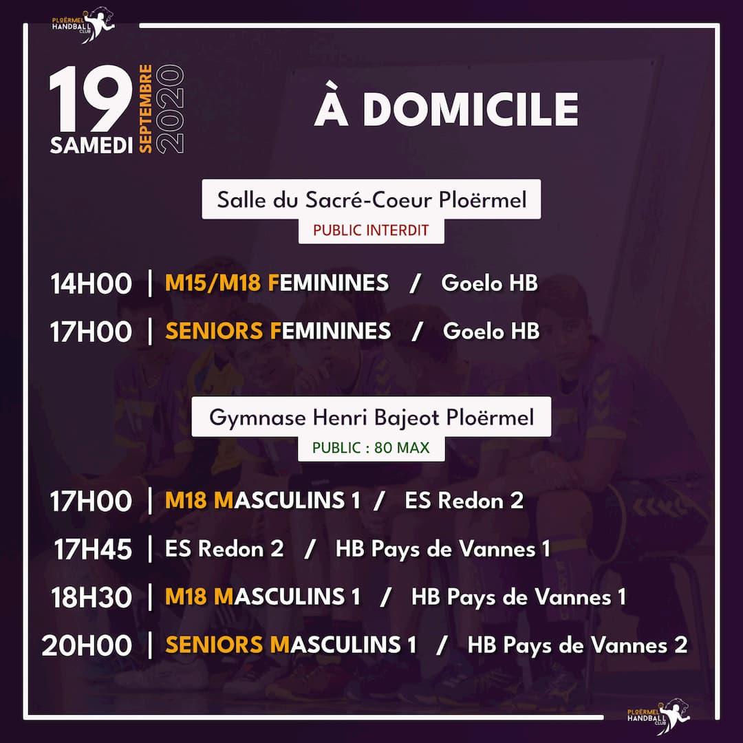 Plusieurs matchs amicaux à Ploërmel ce samedi 19 septembre 2020 9