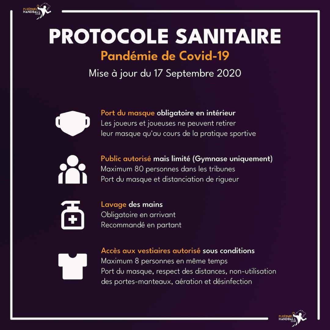 Protocole sanitaire revu pour les matchs 6