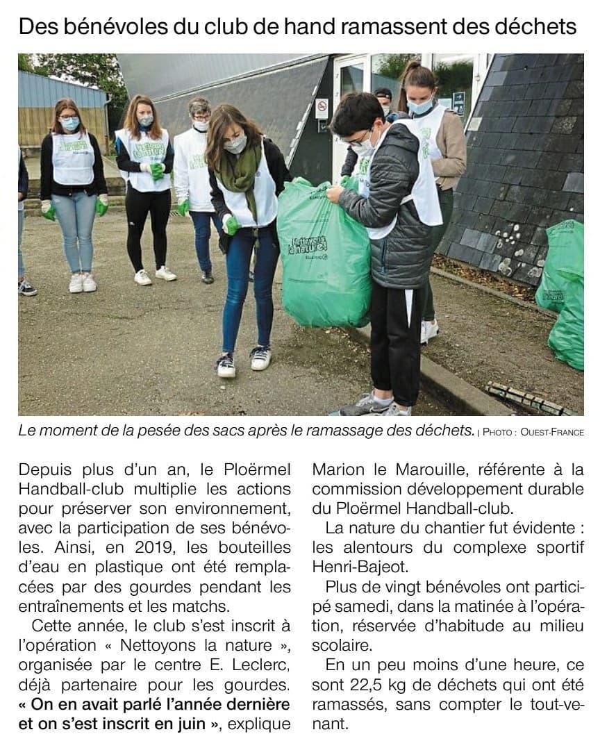 [Presse] Des bénévoles du PHC ramassent des déchets 1