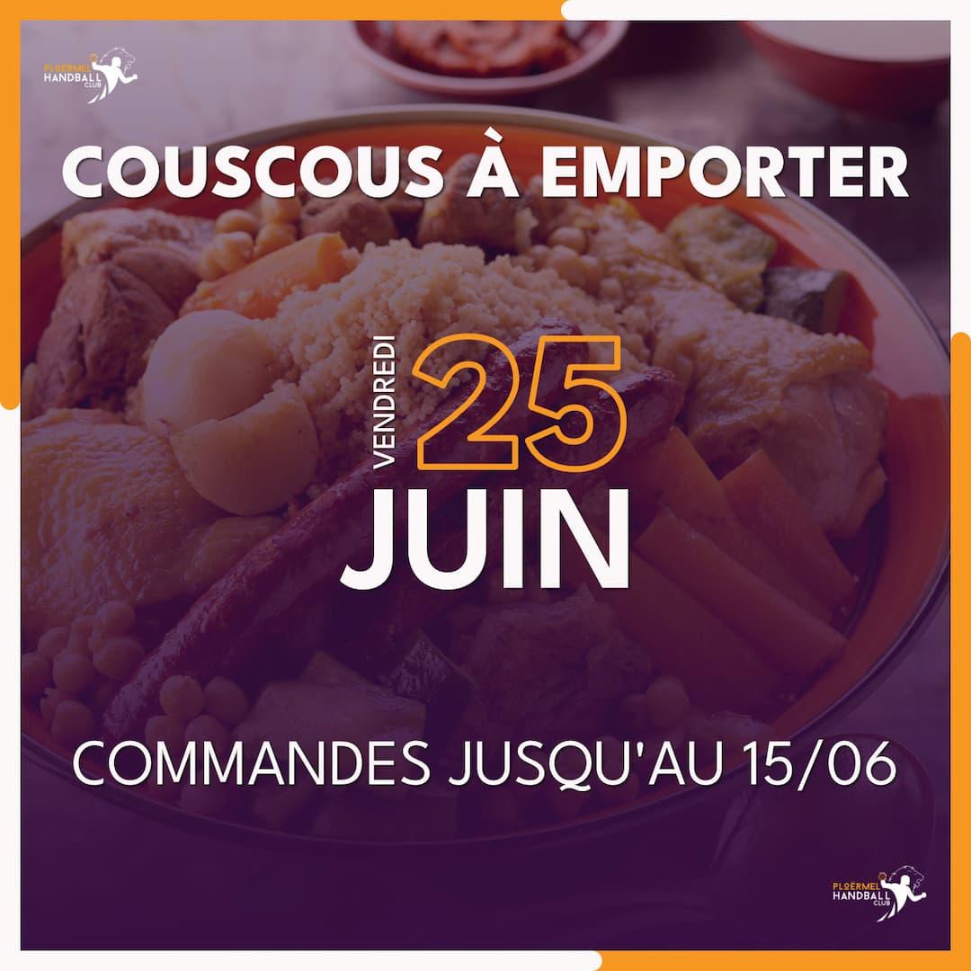 Repas du Club : Couscous à emporter le vendredi 25 juin au soir 2