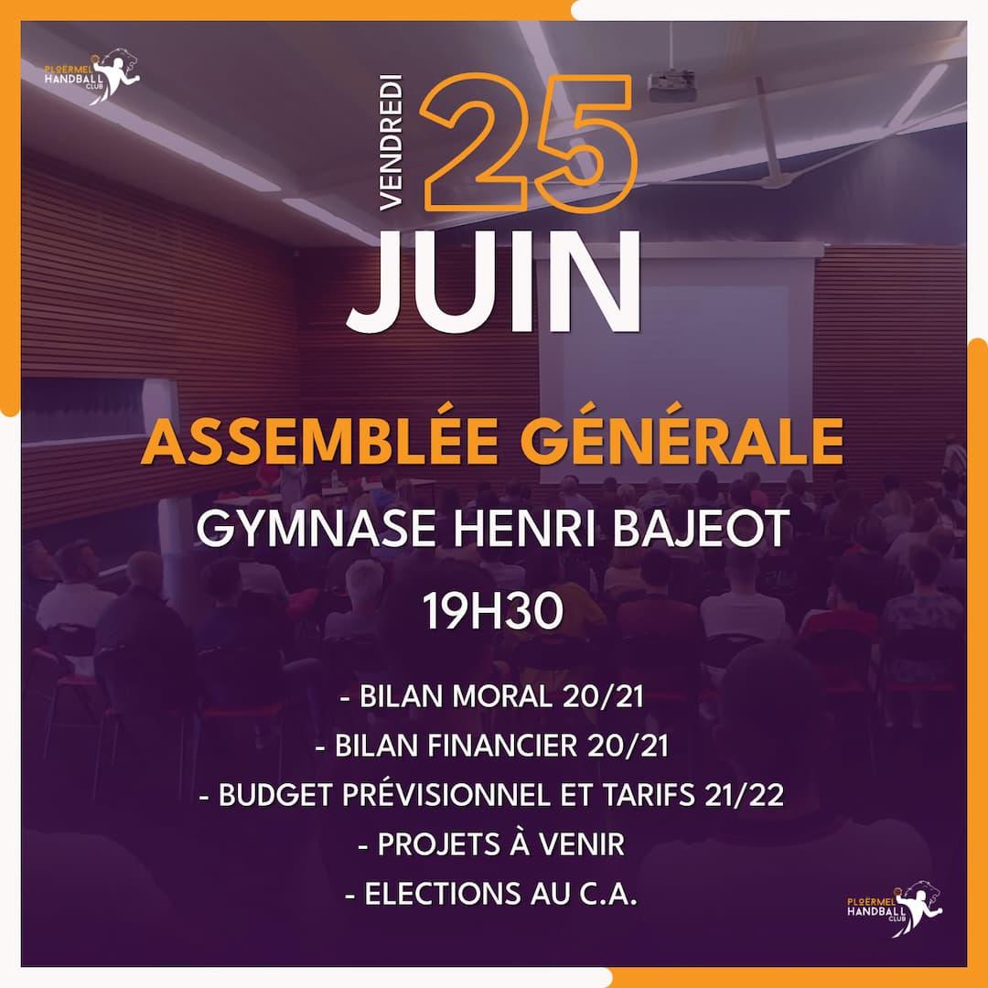Assemblée Générale 2021 du PHC le 25 juin 1