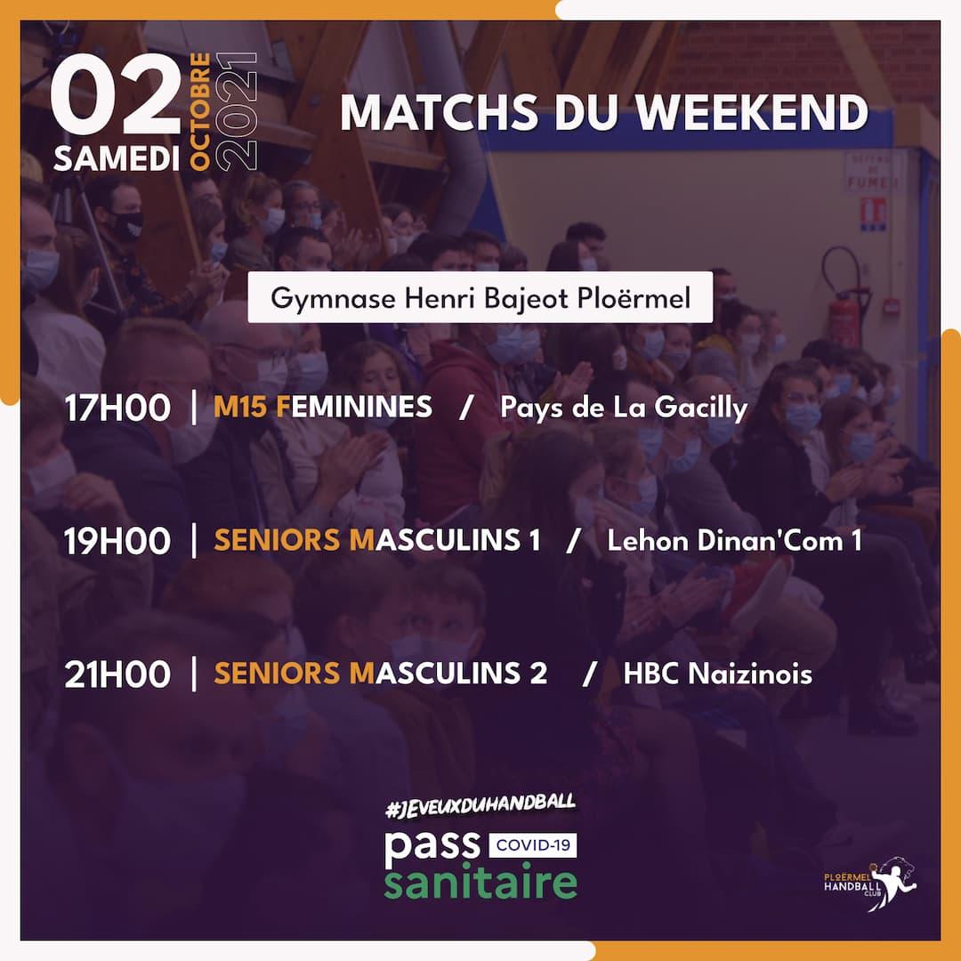 Matchs du weekend du 02 octobre 2021 11