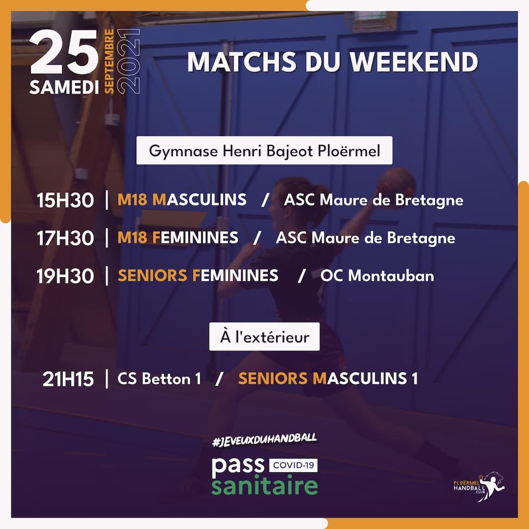 Matchs du weekend 25/26 septembre 2021 1