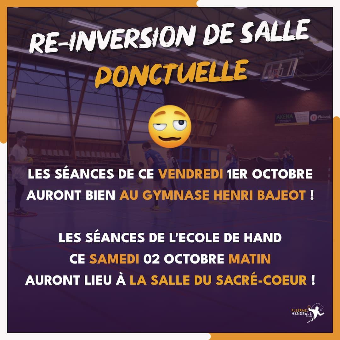 Inversion ponctuelle - Entraînements au Sacré-Coeur le 02 octobre 9