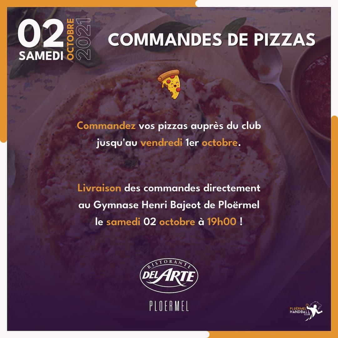 Commandes de pizzas pour le 02 octobre à 19h00 1