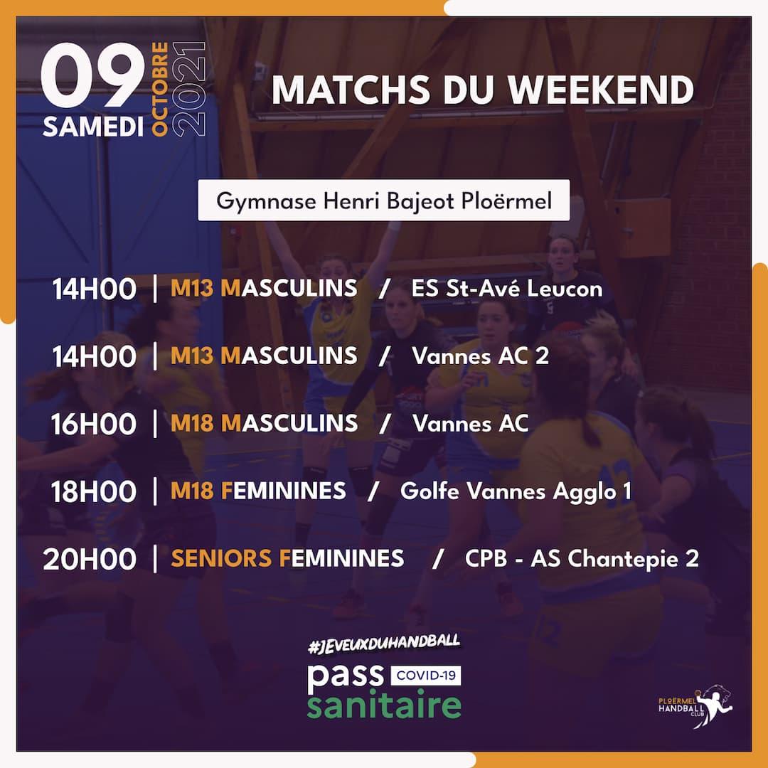 Matchs du weekend du 09 octobre 2021 1