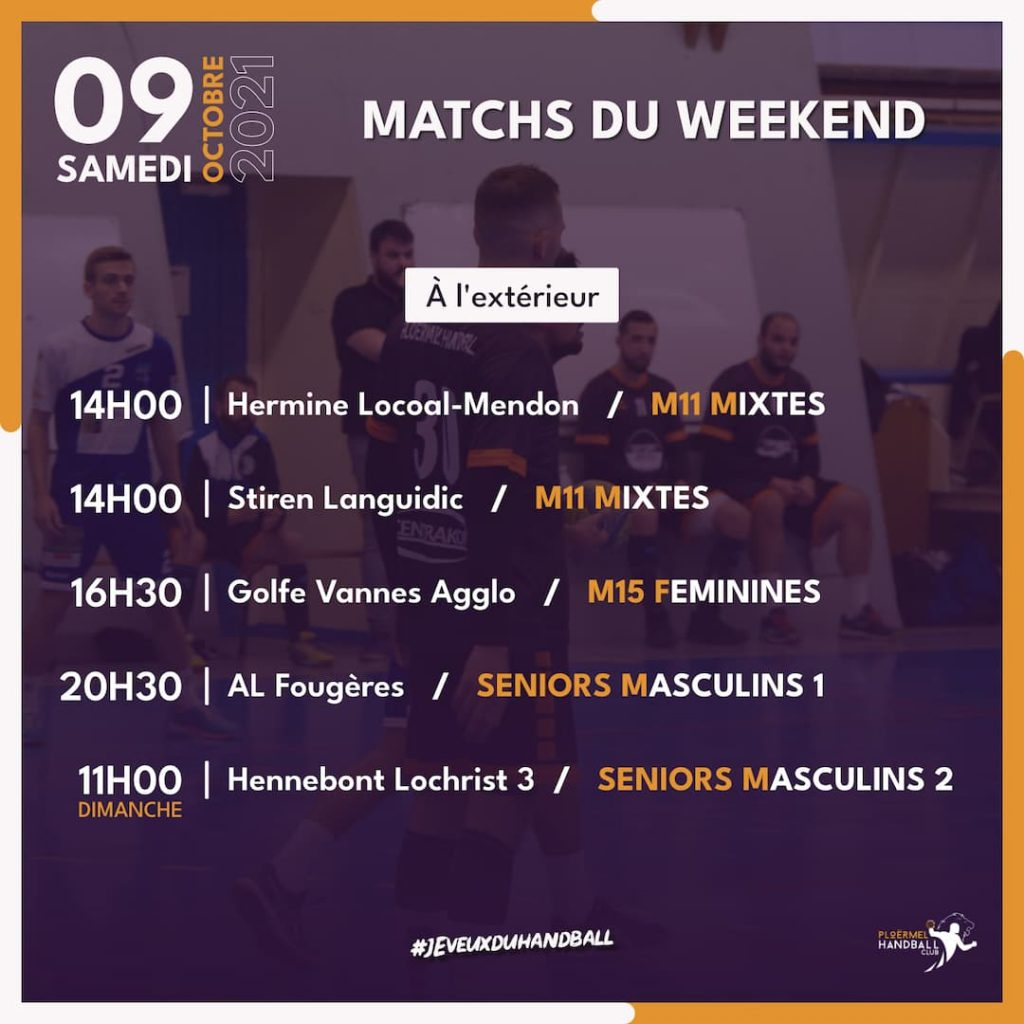 Matchs du weekend du 09 octobre 2021 2