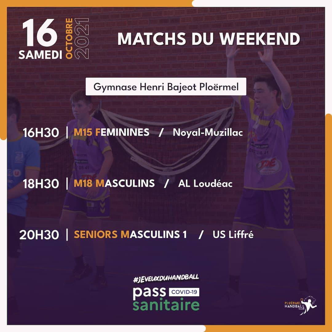 Matchs du weekend du 16 octobre 2021 1